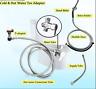 Brass Cold & Hot Water ABS Slim Toilet Bidet Sprayer 4-Ways Mixer Valve Hose Set