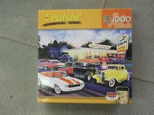 CRUISIN HOT RODS DRIVE-IN 1000 PIECE PUZZLE STREET ROD 71427 - NEW SEALED!