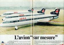PUBLICITE ADVERTISING 115  1971  BEA  avion sur mesure  (2p) par HAWKER-SIDDLEY