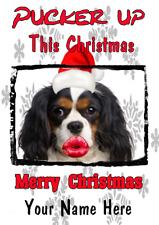 Cavalier King Charles dog k18 Xmas Christmas card A5 Personalised Greeting Card