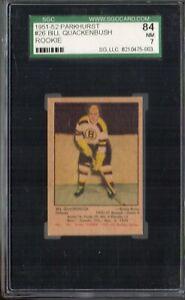 1951 PARKHURST HOCKEY #26 BILL QUACKENBUSH RC SGC 84 NM 7 HOF ROOKIE