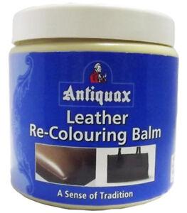 Antiquax Leather Re-Colouring Balm 250ml.  Dark Brown, Cream