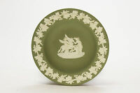 Wedgwood White on Green jasperware Pegasus and Muses greek themes cameo