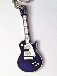 Blue enamel music rock electric guitar keyring   KR0613