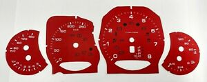 Porsche Cayenne 958 speedometer dial RED COLOR (replacement from MPH to km/h)