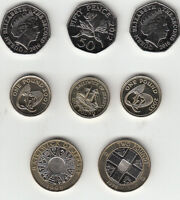 Jersey & Guernsey Coins 50p £1 & £2 (1998-2016) UNC multi listing your choice