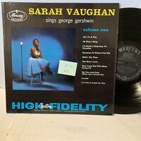 Sarah Vaughan Sings George Gershwin Vol 1- Mercury MG 20310 VG+- Vocal LP