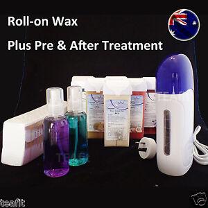 Roll On Depilatory Wax Heater Cartridge Hair Removal Waxing Set AU Plug Stripe