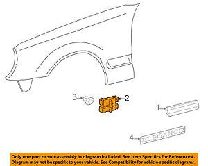 MERCEDES OEM 96-03 E320 EXTERIOR TRIM-FENDER-Body Side Molding Clip 0019888081