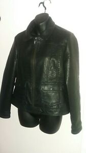 Next Ladie UK 12 Black PU Coated Jacket VGC