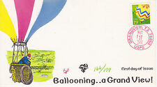PUGH HAND PAINTED FIRST DAY POSTCARD FDC 1991 BALLOONING A GRAND VIEW U/O CANCEL