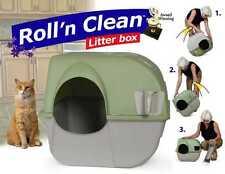 Katzentoilette Roll n Clean braun/grau %7c selbstreinigend%7cKatzenklo