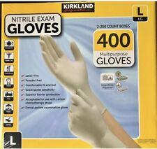 400CT KIRKLAND Multipurpose Nitrile Exam GLOVES Powder Latex free LARGE Exp03/25