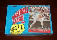 """1986 TOPPS BASEBALL """"3-D SUPERSTARS"""" UNOPENED FULL WAX BOX 24 PACKS"""