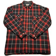 Vintage 80s 90s Squaw Valley Nylon Quilt Lined Flannel Button Up Korea Plaid L