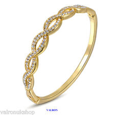 BRACELET WITH INLAID AUSTRIAN CRYSTALS 18K GOLD PLATED