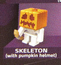 Sealed SKELETON Halloween Pumpkin Helmet MINECRAFT Series 4 Single Mini-Figure