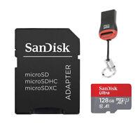 Sandisk 128GB MicroSD Speicherkarte Micro SDXC SD Adapter + USB Kartenleser
