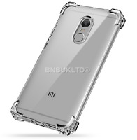 Shockproof Clear Gel Case Cover &Glass Screen Protector For Xiaomi Redmi 4 (4X)