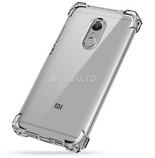 Shockproof Clear Gel Case Cover &Glass Screen Protector For Xiaomi Redmi Note 4X