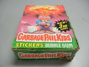 1986 Garbage Pail Kids USA GPK 3rd Series partial box, 22 Wax Packs