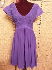 Ladies Tree of Life Purple 'patina' Dress S Fit Approx 10 Maybe 12