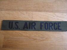 "ORIGINAL Parche ""EE.UU. AIR FORCE ""bruststreifen pecho Od Oliva EE.UU."