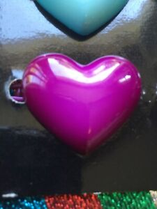 1980s Purple Heart Plastic Hair Clips X 2