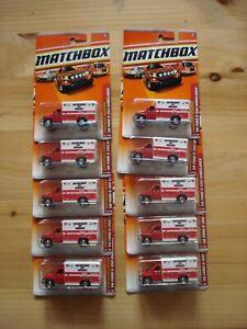Matchbox 2010 #54 Ford Ambulance Lot of 10