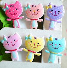 15pcs Mixed color Resin Cartoon Animal Cute Kawaii flat back Cat cabochon