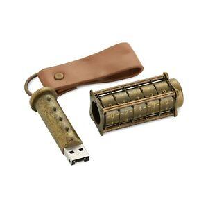 Cryptex 16Gb USB Flash Drive - Ultimate Geek Gadget!  (steampunk style)