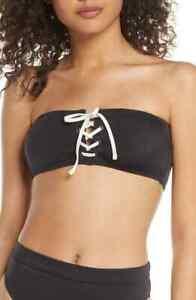 billabong onyx wave bandeau bikini top XL new no tags
