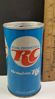 RC Cola Can Flat Pull Tab Top Blue NEHI Chicago Vertical Contains Rare Vintage