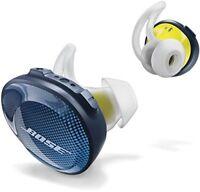 New Bose SoundSport Free wireless headphones Midnight Blue / Yellow Citron