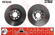 TRW Juego de 2 discos freno Antes 308mm ventilado OPEL ASTRA CORSA ZAFIRA DF4246