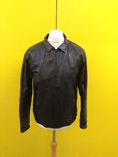 "Mens Debenhams Vintage Leather Bomber Jacket - 44"" - Black - Great Condition"