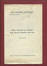 Libro 1935 Abaco Universale per l'Impiego degli Apparati Fotografici degli Aerei