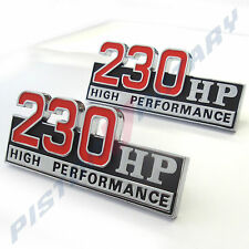 230 HIGH PERFORMANCE Guard Badges x2 , Chrome NEW, for Ford Falcon XT GT Fender