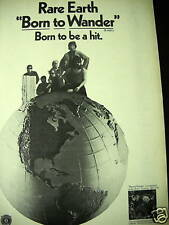 Rare Earth Born To Be A Hit 1970 Promo Poster Ad mint!