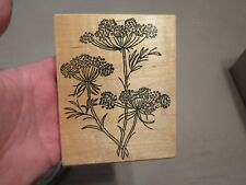 FLOWERS WOOD MOUNTED RUBBER STAMP SCRAPBOOK ME & CARRIE LOU GREAT SHAPE