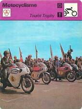 FICHE CARD: 1967 Tourist Trophy Mike Hailwood (N°4) sur Honda MOTORCYCLING 1970s