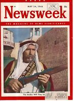 1948 Newsweek May 24 - Eva Peron - Nobel Prize; D.L. Moody; Mormons; Palestine