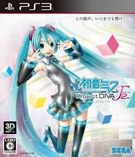 USED PS3 Hatsune Miku Project DIVA F 2nd SEGA GAMES FREE SHIPPING JAPAN IMPORT