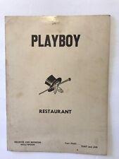 Vintage Menu Playboy Restaurant Hollywood California