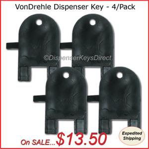 VonDrehle Dispenser Key for Paper Towel & Toilet Tissue Dispensers - (4/pk.)