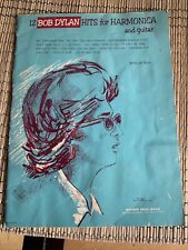 Bob Dylan Songbook Hits For Harmonica And Guitar Sheet Music 12 songs 1966