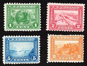 "US# 401- 404 *MINT OG H* { SCARCE PERF 10"" SET OF 4 } BEAUTY 1913 PANAMA PACIFIC"