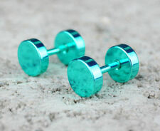Handmade Turquoise Screw Back (pierced) Costume Earrings
