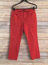 Tommy Hilfiger Women's Red Cropped Jeans Size 10