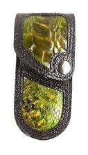 REAL ALLIGATOR SKIN knife sheath buck 110, case 6265, SHEATH ONLY Handmade GREEN
